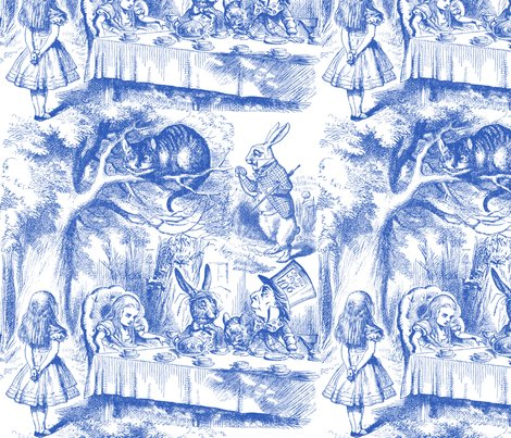 Alice_in_wonderland___late_for_tea____nelson___blue_and_white___peacoquette_designs___copyright_2014_shop_preview