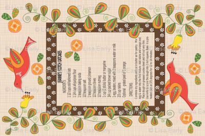 Jeannie's Scotch Oatcakes Tea Towel