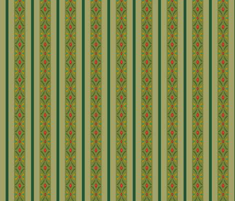 Anna green small fabric aimee spoonflower