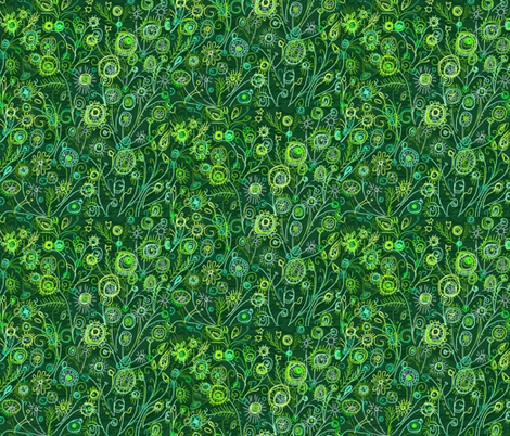 Tiny Green World fabric by monkeyshinedesign on Spoonflower - custom fabric