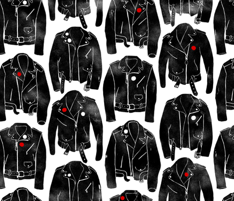 Punk Jackets BIG fabric by ben_goetting on Spoonflower - custom fabric