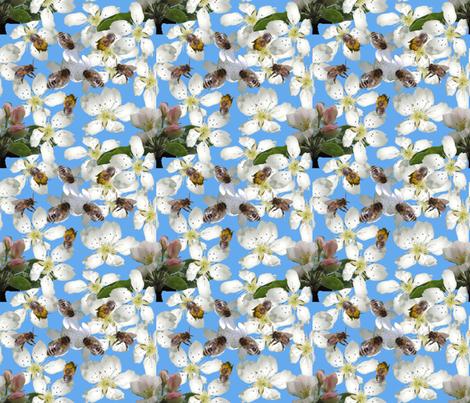 Bees_in_the_sky_1 fabric by ruthjohanna on Spoonflower - custom fabric