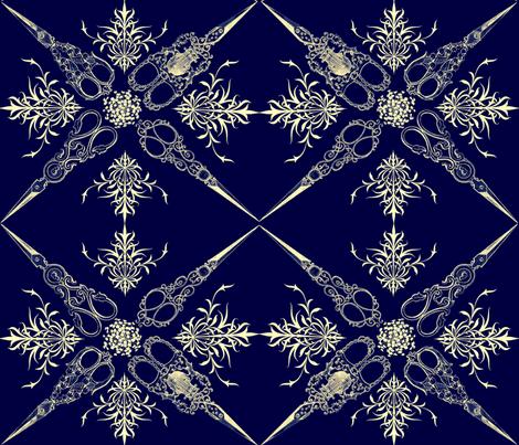 RETRO SCISSOR SPIRAL fabric by bluevelvet on Spoonflower - custom fabric