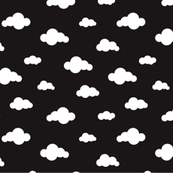 Sleep dreamy night my baby - Black and white clouds