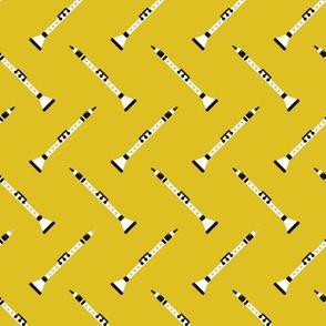 Retro clarinet flute music design