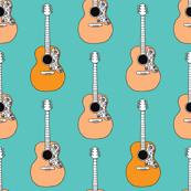 Retro acoustic guitar music design