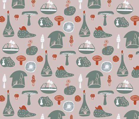 Mushroom Land fabric by chris_jorge on Spoonflower - custom fabric