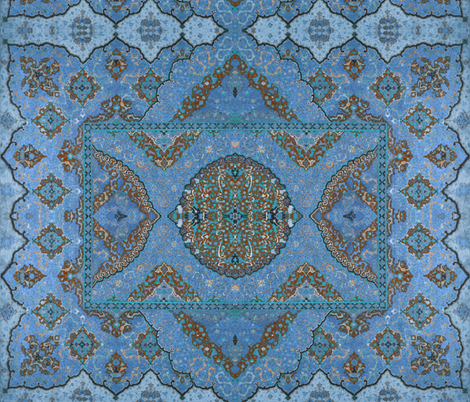 Persian Dream ~ Peacock  fabric by peacoquettedesigns on Spoonflower - custom fabric