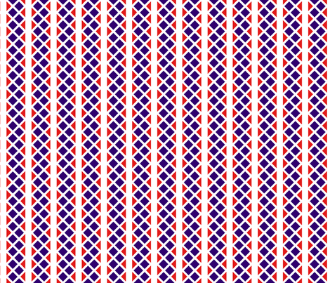 Blue_and_red_diamond_stripes. fabric by house_of_heasman on Spoonflower - custom fabric