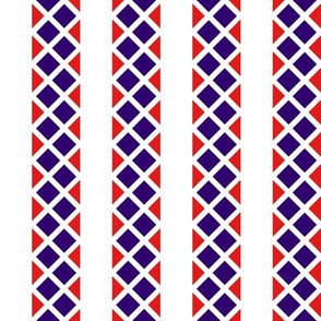 Blue_and_Red_Diamond_Stripes. Wide White.