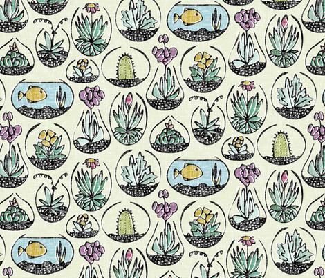 glass bowls of joy fabric by scrummy on Spoonflower - custom fabric