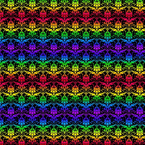 Rainbow Damask (dark)