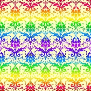 Rainbow Damask (light)