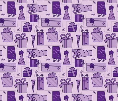 Gifts (purple) fabric by studiofibonacci on Spoonflower - custom fabric