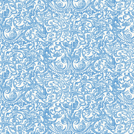 Blue Dragons fabric by amyvail on Spoonflower - custom fabric