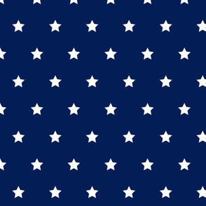 Navy and white star