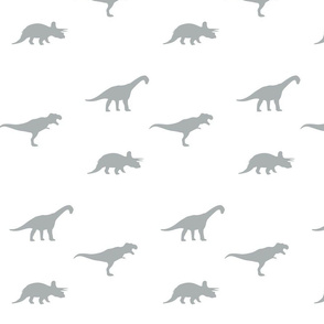 grey on white dino