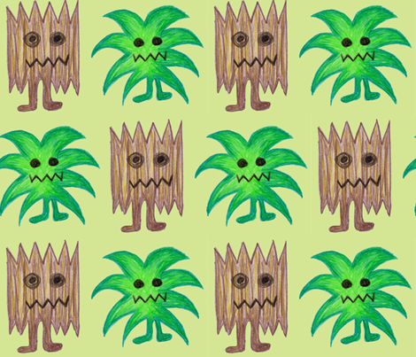 Tree Monsters fabric by pennyroyal on Spoonflower - custom fabric