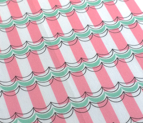Ice Cream Parlor || awning stripes geometric pastel bunting vintage summer