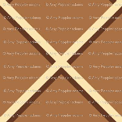 Waffled (Chocolate) || ice cream waffle cone texture geometric diamonds lattice cross