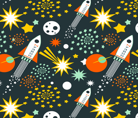 Bright Universe fabric by tessa's_textile_designs on Spoonflower - custom fabric