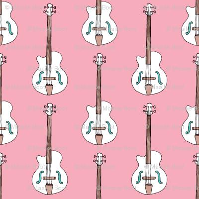 Bass guitar music design for girls