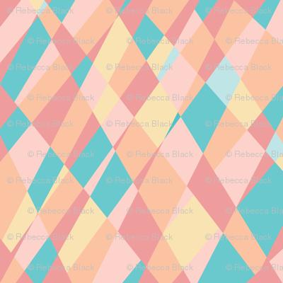 pastel reflective shards