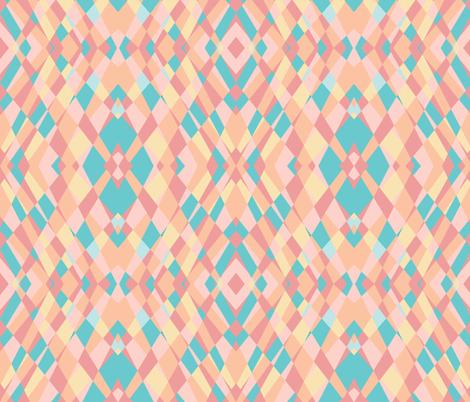 pastel reflective shards fabric by blackbirdhotel on Spoonflower - custom fabric