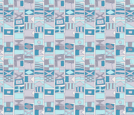 Maritime Flags - colorway 01 fabric by aliceelettrica on Spoonflower - custom fabric