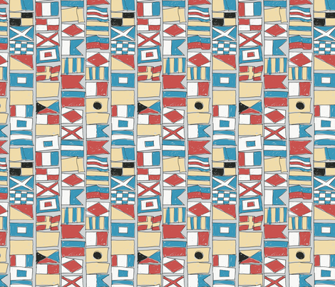 International Maritime signal flag - colorway 3 fabric by aliceelettrica on Spoonflower - custom fabric