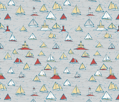 Sailboats - colorway 03 fabric by aliceelettrica on Spoonflower - custom fabric