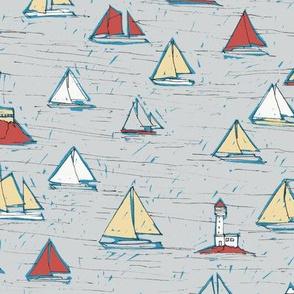 Sailboats - colorway 03