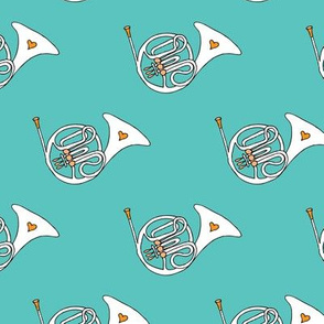 Trumpet doodle jazz illustration horn music pattern