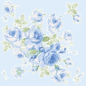Lake Maria Summer Roses on Blue