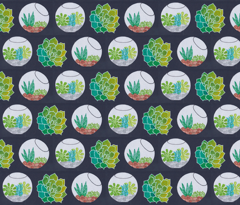 succulents & terraria fabric by timaroo on Spoonflower - custom fabric