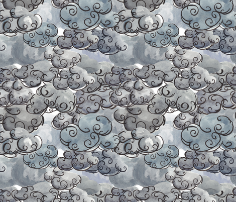 An Idea of Clouds fabric by kellyw on Spoonflower - custom fabric