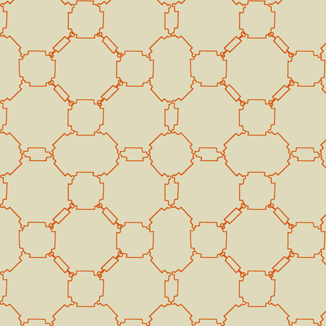 Chain Reaction fabric by kiniart on Spoonflower - custom fabric