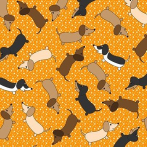 Dancing Dachshunds (Orange)
