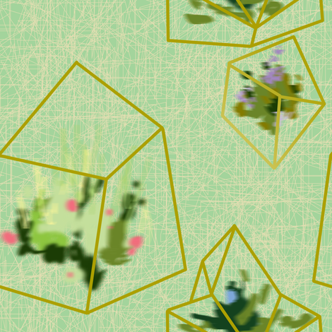 terrarium fabric by maja_studio on Spoonflower - custom fabric