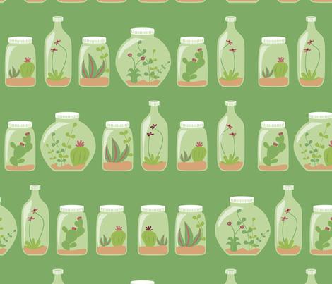 Gardens in bottles fabric by ebygomm on Spoonflower - custom fabric