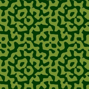 tribal diamond in moss and forest