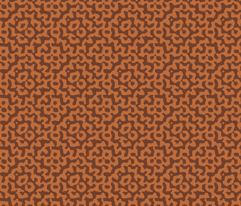 tribal diamond in bronze and copper fabric by weavingmajor on Spoonflower - custom fabric