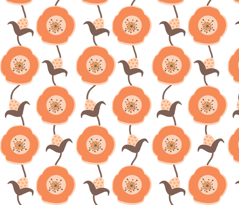 Poppy-Peach fabric by banana&tree on Spoonflower - custom fabric