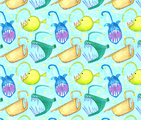 Monsters from the deep fabric by weejock on Spoonflower - custom fabric