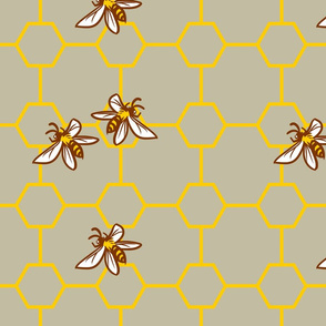 Bees on Gray