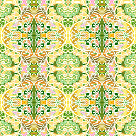 Happy Sunshine Spring fabric by edsel2084 on Spoonflower - custom fabric
