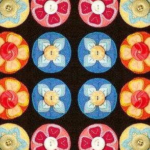 Felt Floral Penny Rug