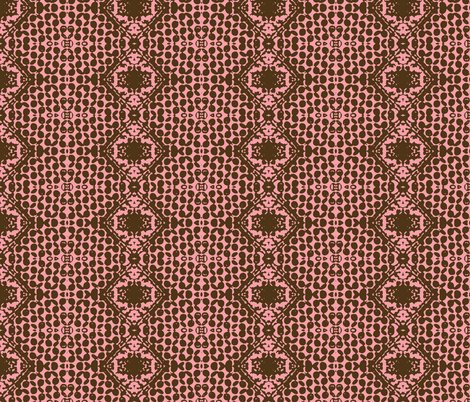 Dark Star Entering the Neutral Zone-Strawberry Creme fabric by susaninparis on Spoonflower - custom fabric