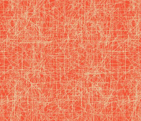 sisal tonal salmon orange fabric by maja_studio on Spoonflower - custom fabric