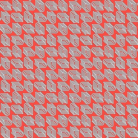 Geometric Small 1 (Cayenne) fabric by vannina on Spoonflower - custom fabric